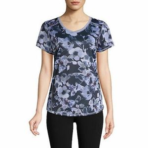St Johns Bay quick dri floral spring workout top